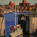 Liverpool painting No. 107.  Liverpool Marina. SOLD