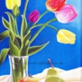 Tulips and Fruit