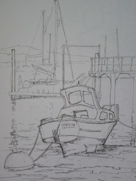 low tide at Portchester