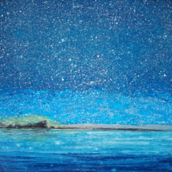 A Sky Full of Stars A Sky full of Stars (acrylic paint with glass beads on hard canvas board) 11 x 14 inch