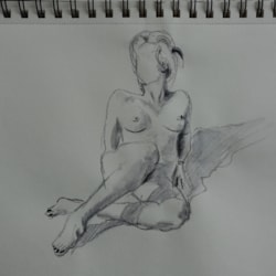 Sketch of Sitting Nude