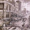 A rainy day, Mornington Crescent, London