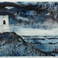 Mow Cop Folly, Cheshire - Monotype Print.