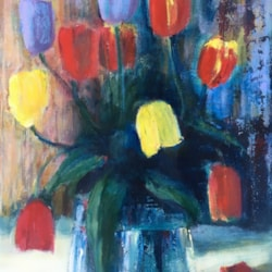 Tulips turning