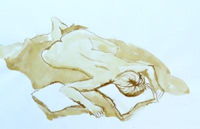 Reclining Julie nude