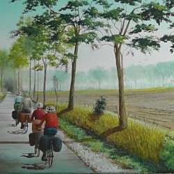 Four Cyclists