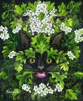 Beltane - Green Cat and Magick Thorn.
