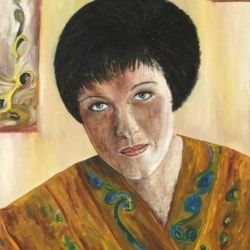 Lady from dream oil painting Bogomolnik