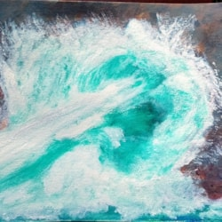 Study of Boscastle blow hole