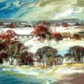 Essex Bridge, Shugborough - Winter Landscape.