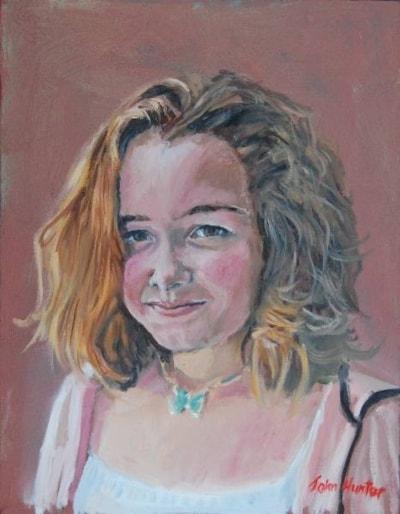 Francesca at 13,Oil 14insx18ins