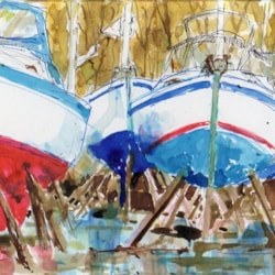 Marina vessels late November; sailing over