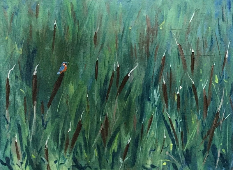 Reed Mace & Kingfisher