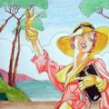Deco girl-(after Leyendecker)