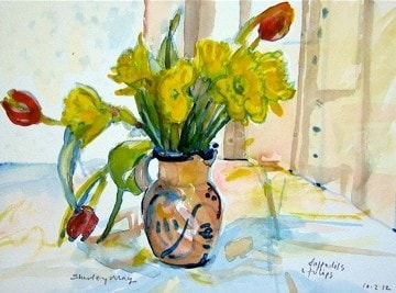 Daffodils and tulips