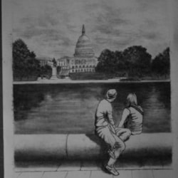 ''A Couple Side at The Capitol, Washington''