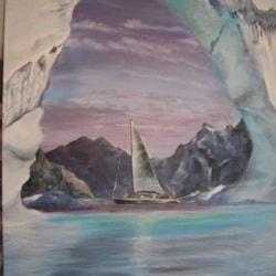 Sunset through an Iceberg