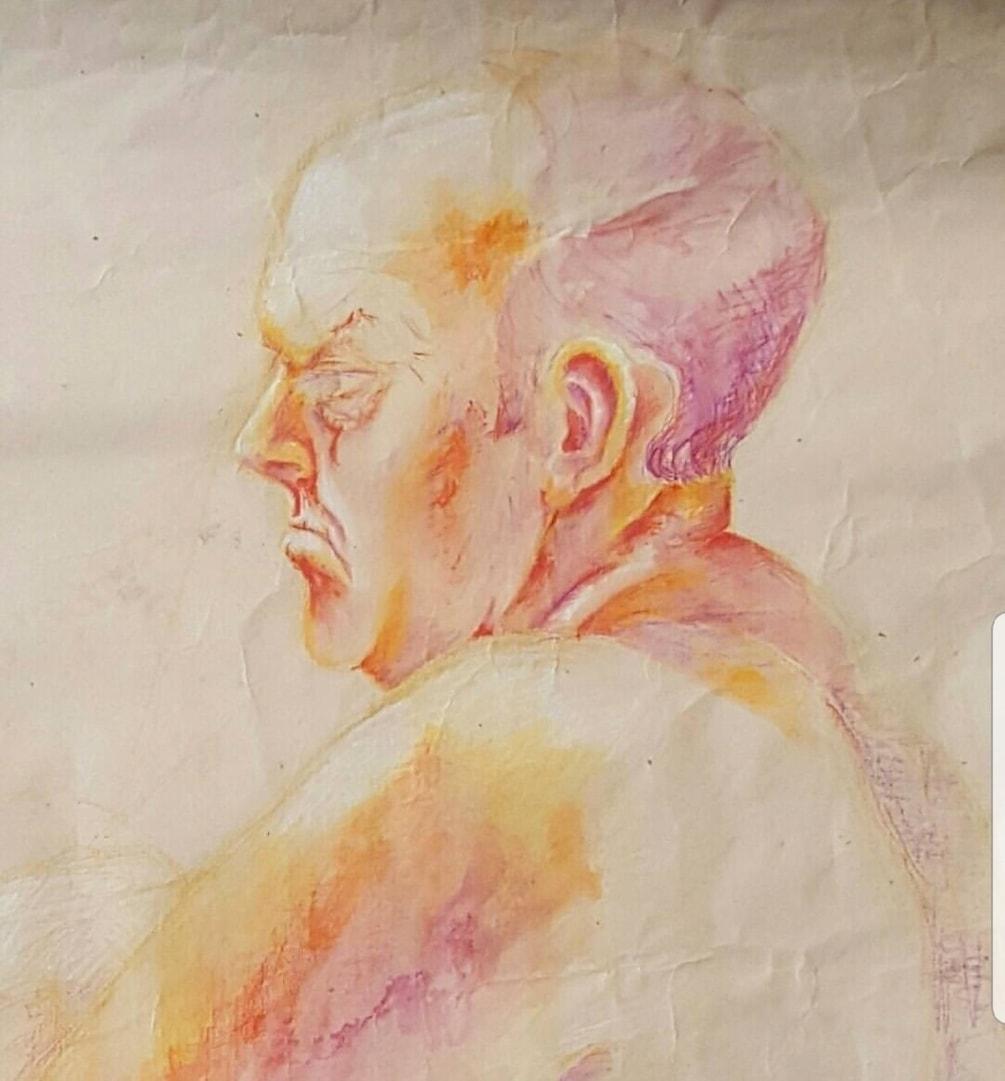 Mr Geoff pastel study