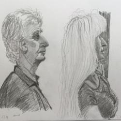 Life Class members Bill and Sylvia