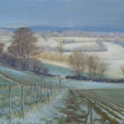 Late snow near Ayot St Lawrence