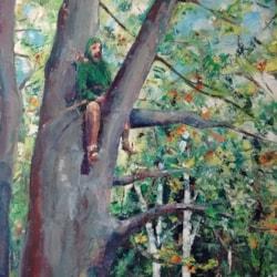 Man in a tree (Robin Hood)