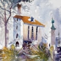 Portmeirion Plein air watercolour