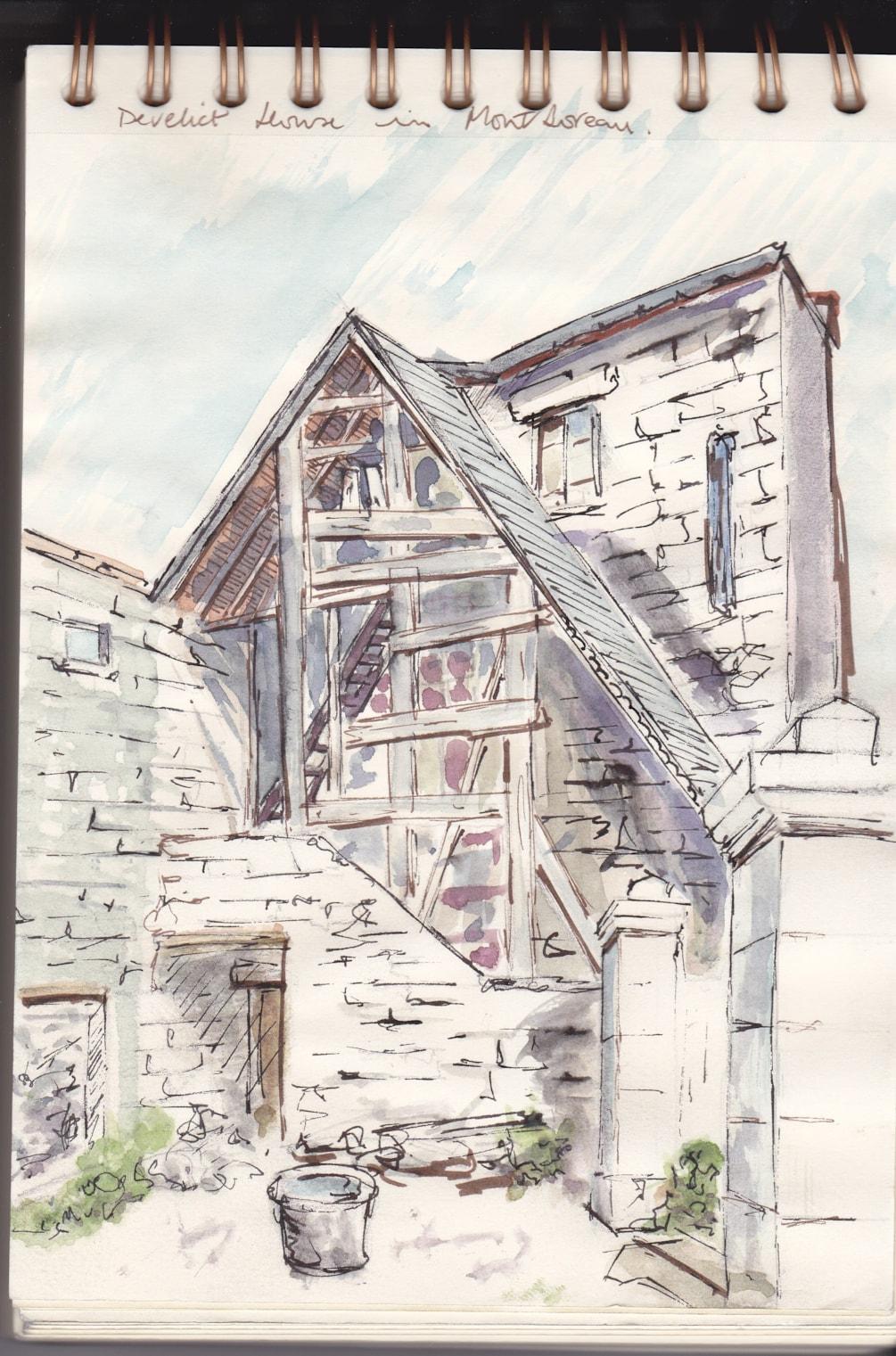 derelict house at Montsoreau