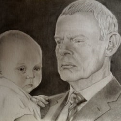 Martin Clunes as Doc Martin with James Henry