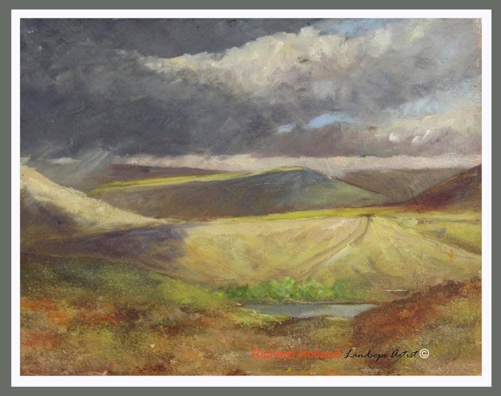 Abney Moor between the showers   Spring