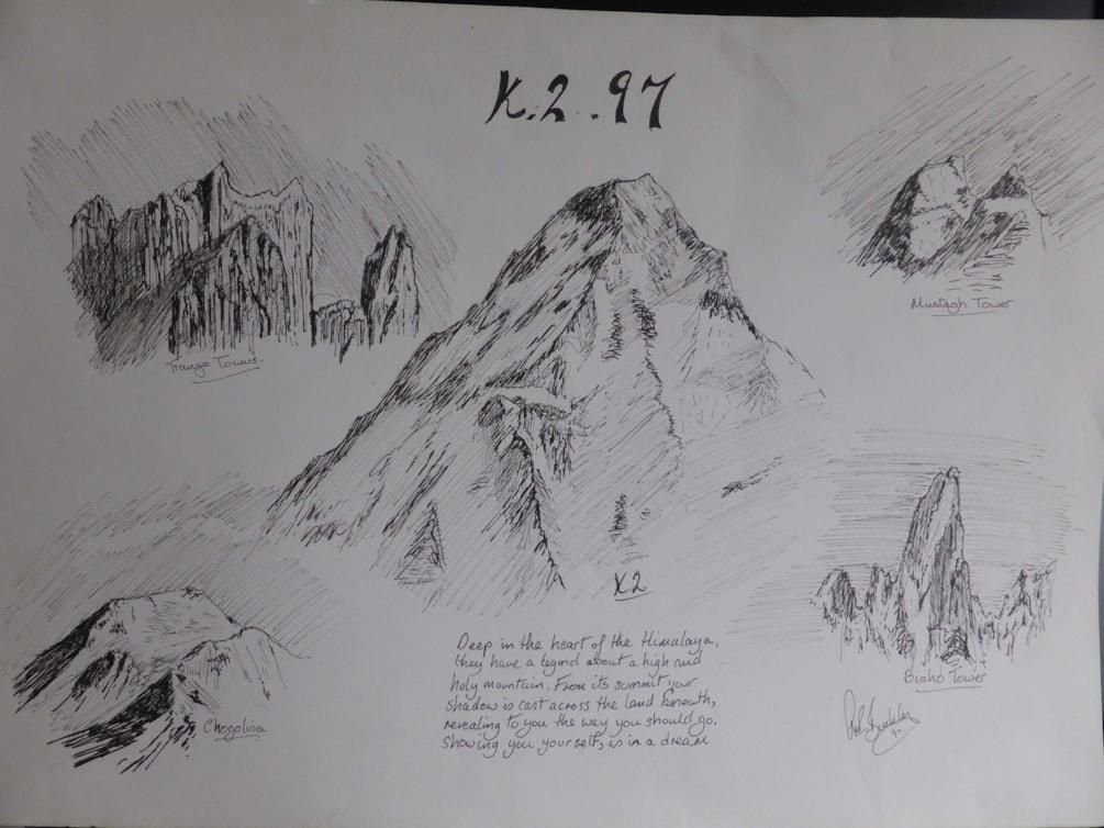 """K2 Memories. Pen 24x24"""""""
