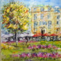 Cheltenham Imperial Gardens, Commission Mixed Media ©