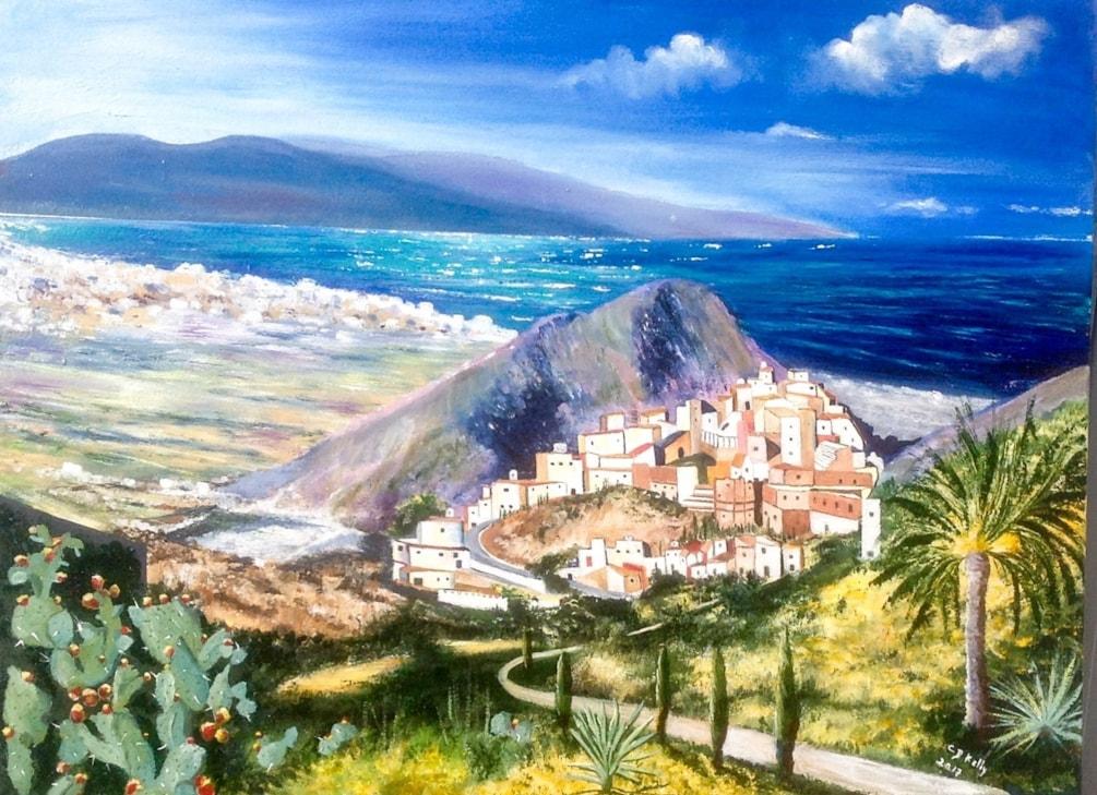 Mojacar Pueblo, Almeria, Spain, oil on canvas, 80 cm X 60 cm
