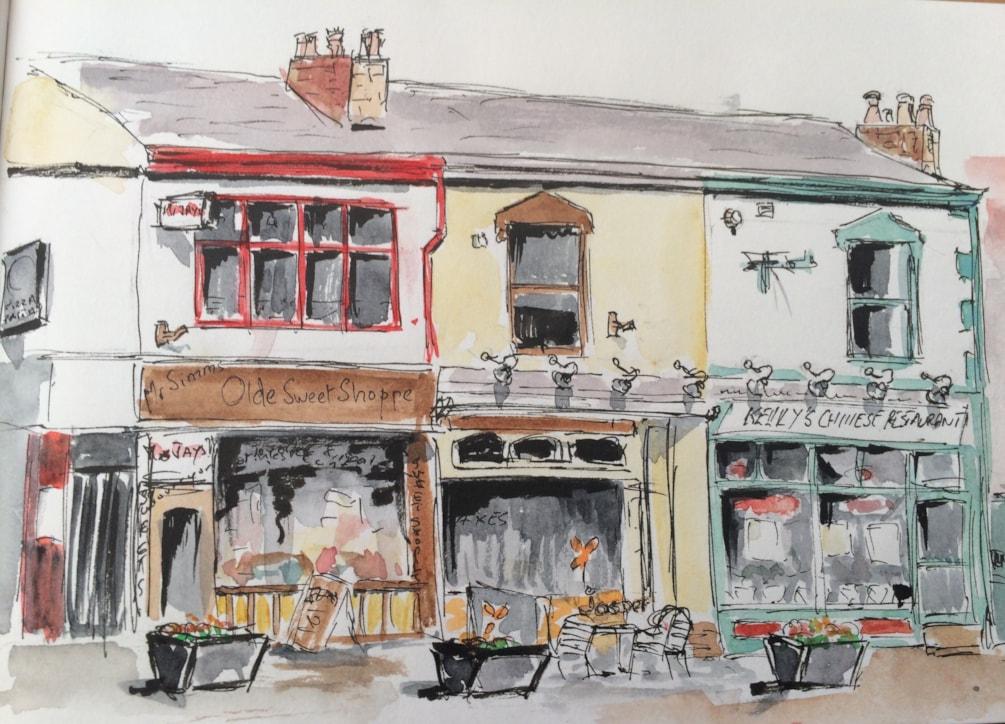 Jasper's café, Stockton Heath (sketch) 2016