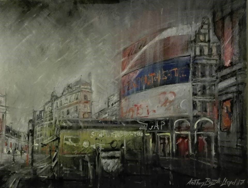Piccadilly Circus, early in the morning. London