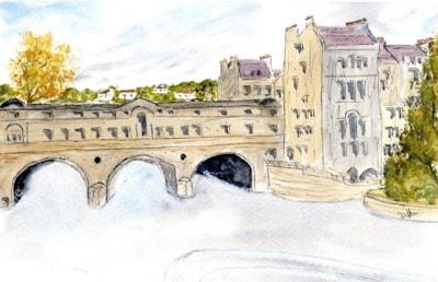 Pulteney Bridge, Bath Sketc