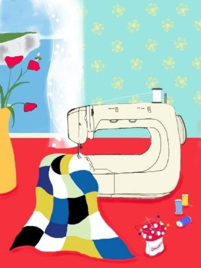 The Sewing Bee - iPad Art