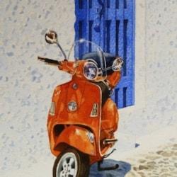 Blue Gate Orange Scooter