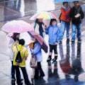 Rainy Day in Trafalgar Square