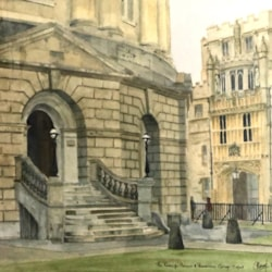 The Radcliffe Camera and Brasenose College Oxford
