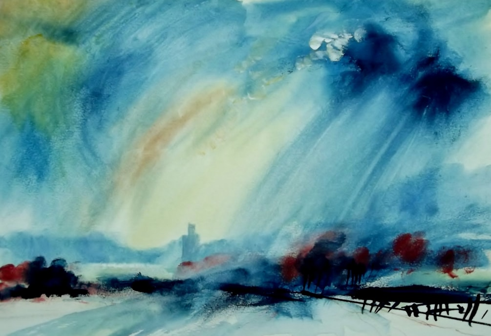 Sky Study, with Upperton Monument in the background.