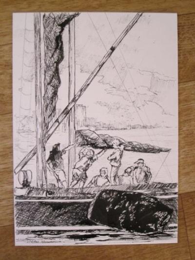preparing to sail