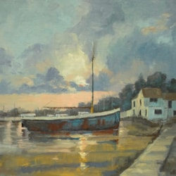 Early morning light, Pin Mill on theRiver Orwell