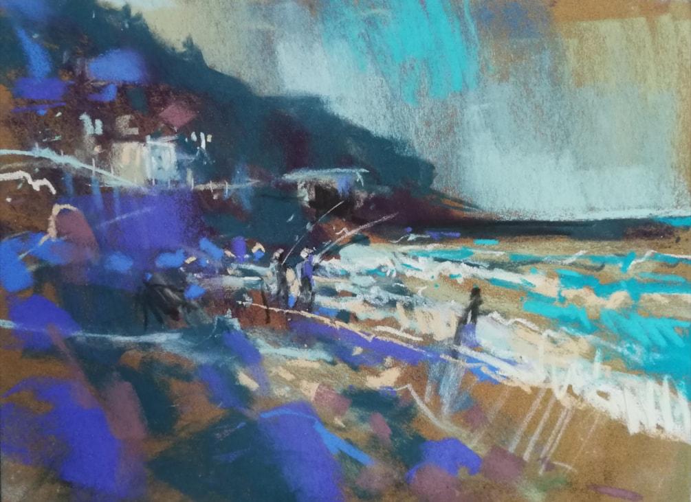 Surf fishing Sennen