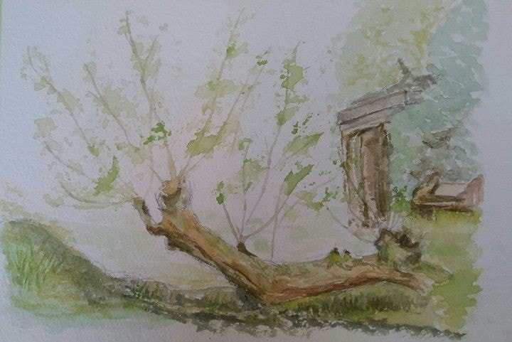 New shoots en plein air sketch