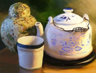 Tea Pot and Ginger Jar
