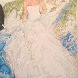 Bride & groom on the beach