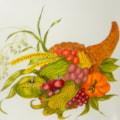 CORNUCOPIA OF FRUITS FOR THE HARVEST FESTIVAL