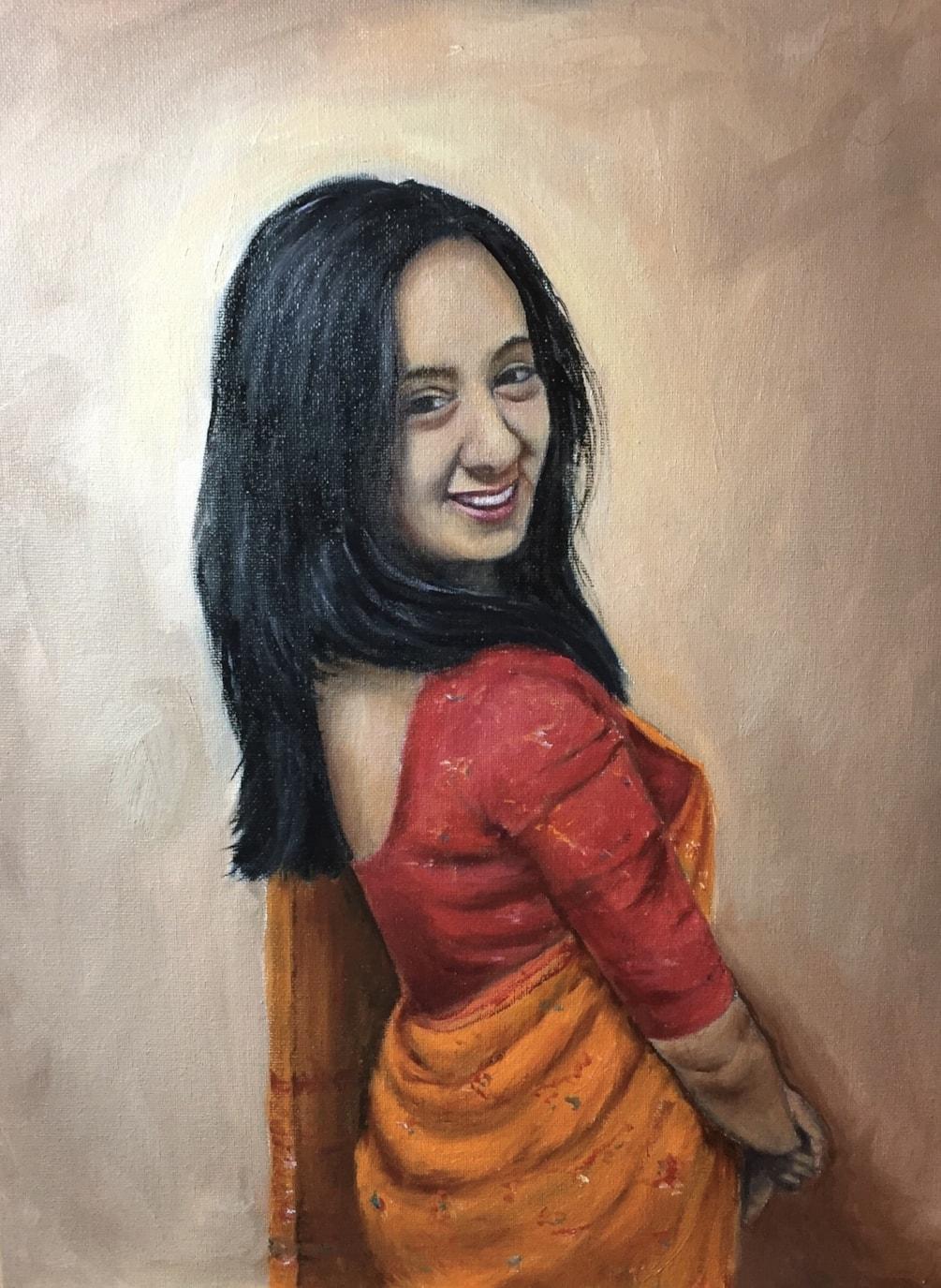 The orange sari