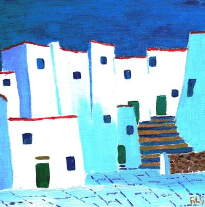 Ibiza Blue (Turners / Loxley Art Challenge 2/2