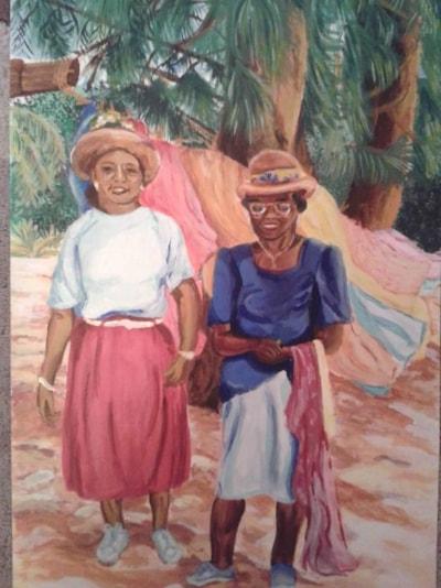 Beach ladies in Barbados
